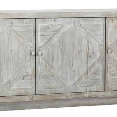 84″ Grey Wash Sideboard Media Cabinet by Terra Nova Furniture Los Angeles by TerraNovaLA
