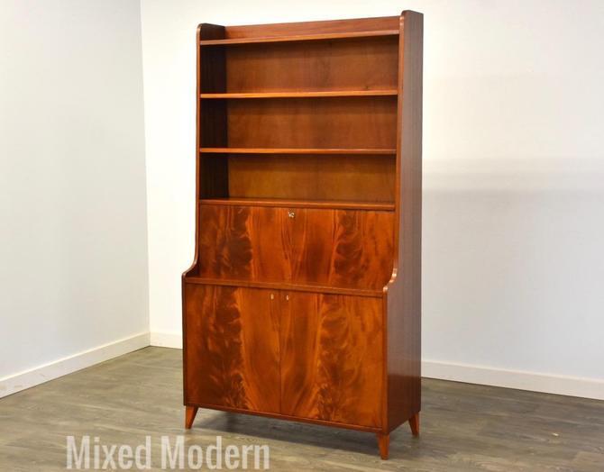 Mahogany MCM Desk Bookcase by mixedmodern1