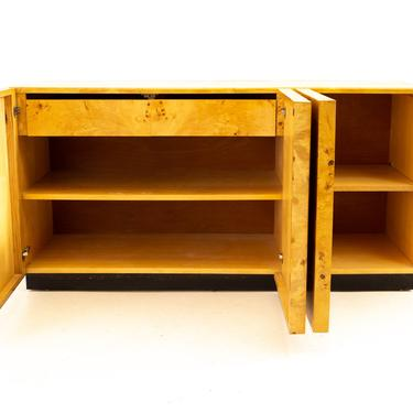 Milo Baughman for Thayer Coggin Mid Century Burlwood Sideboard Credenza Buffet and Hutch - mcm by ModernHill