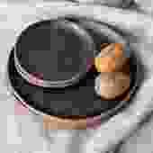Matte Black Ceramic Plate