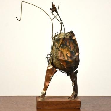 Brutalist Fishing Statue by mixedmodern1
