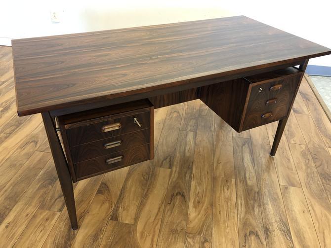 Scandinavian Rosewood Floating Top Desk