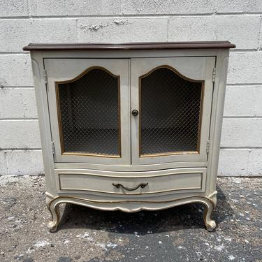 Vintage French Provincial Nightstand Bedside Table Gold Bachelor Chest Neoclassical Furniture Console Bedroom Shabby Chic CUSTOM PAINT AVAIL by DejaVuDecors