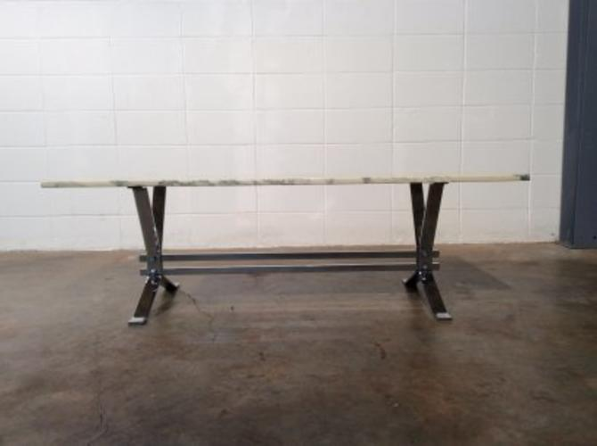 Marble and Chrome Coffee Table