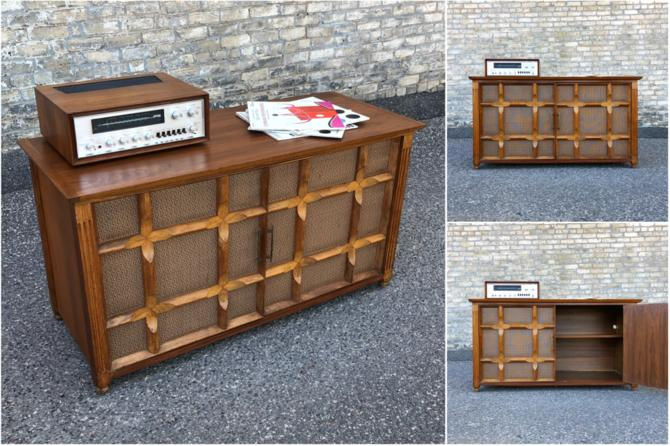 Double Door Media Or Bar Cabinet