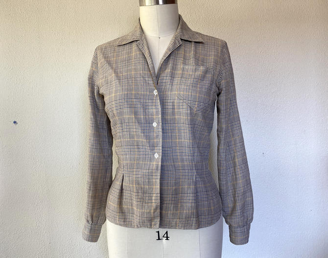 1950s Abercrombie & Fitch plaid shirt by VelvetGoldmineShop