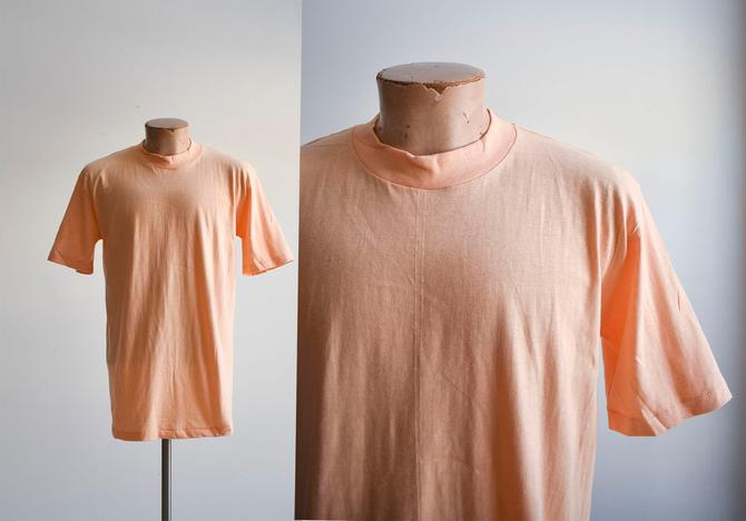 1980s Deadstock Blank Orange Tshirt by milkandice