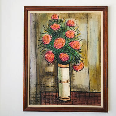 MID CENTURY MODERN Flower Oil Painting #LosAngeles by HouseCandyLA