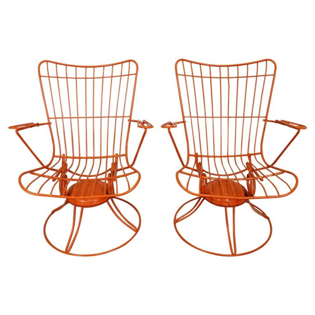 Homecrest Bottemiller Swivel Rocker Lounge Arm Chairs Mid