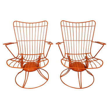 Homecrest Bottemiller Swivel Rocker Lounge Arm Chairs Mid-century Modern Outdoor Patio by AnnexMarketplace