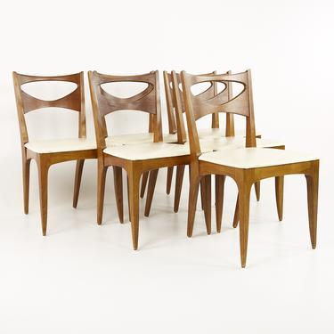John Van Koert for Drexel Mid Century Dining Chairs - Set of 6 - mcm by ModernHill