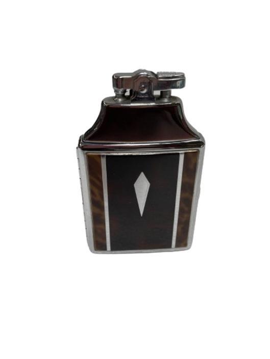 Chrome Art Deco Cigarette Case w/ Lighter by Ronson by HarveysonBeverly