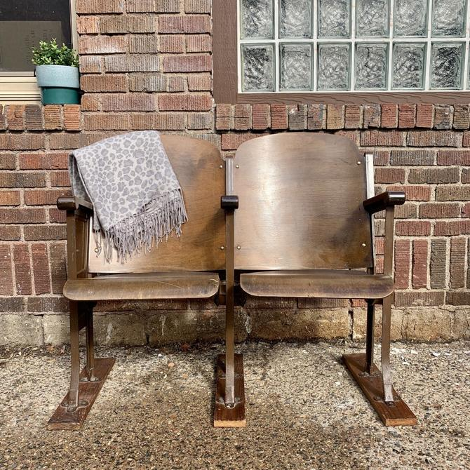 Pair of Vintage Theater Chairs