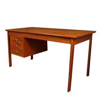 Mid Century Danish Teak Peter Lovig Nielsen Jens Quistgaard Slide Top Desk by Marykaysfurniture