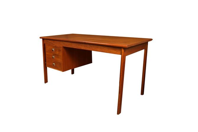 Mid Century Danish Teak Peter Lovig Nielsen Jens Quistgaard Slide Top Desk by Marykaysfurniture