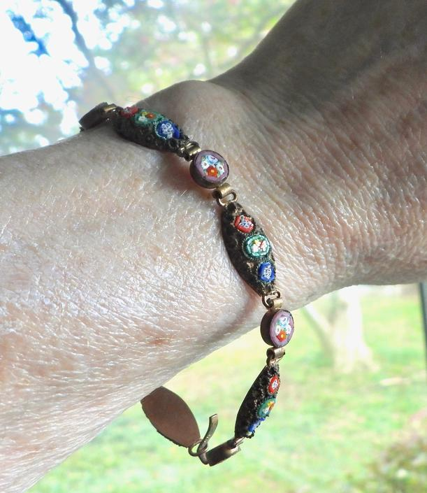 Antique Micro Mosaic Made in Italy Bracelet by LegendaryBeast
