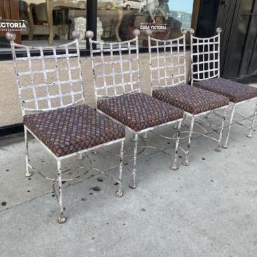 Flaky Bread   Set of Four Parisian Iron Chairs