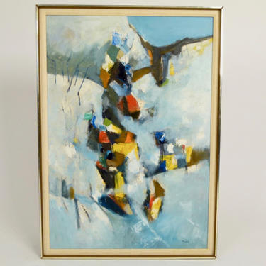Bangdel Abstract Oil On Canvas