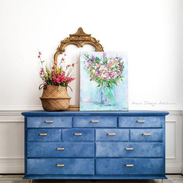 Dresser, Drexel, Wood Dresser, Painted Furniture, Painted Dresser, Bedroom, Bedroom Dresser by AminiDesignAshburn