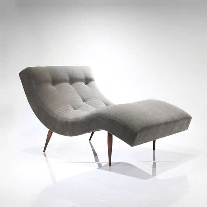 STUNNING Adrian Pearsall Wave Chaise Lounge Chair for Craft Associates - Gray Mohair by ReVisionFurniture