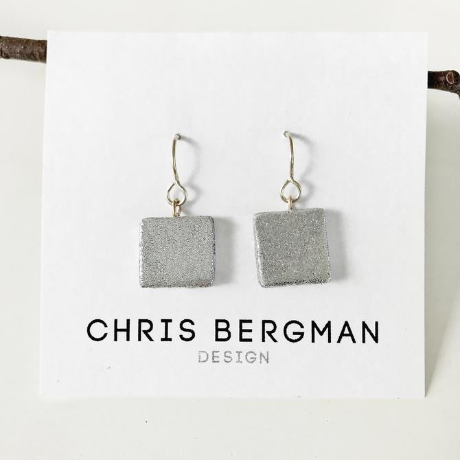 ARYA earrings - sterling silver and polymer clay by ChrisBergmanDesign