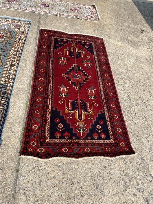 Tribal Persian Rug, 3.7 x 7