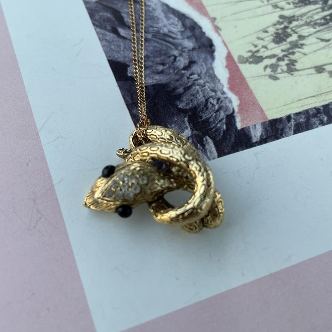 1970's Gold Snake Pendant
