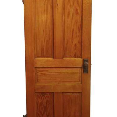 Antique 5 Pane Yellow Pine Passage Door 79.5 x 31.875
