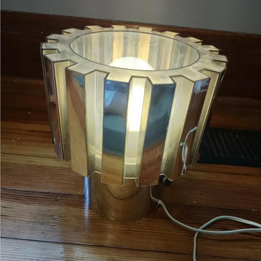 21684669 - YELLOW LUCITE X LAMP -  - LIGHTING - TABLE  ACCENT