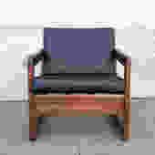 Vintage 1960s Walnut Lounge Chair