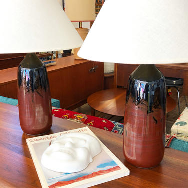 George Scatchard Pottery Lamps