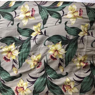 Retro Daffodil Fabric