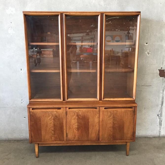 Mid Century Walnut China Cabinet