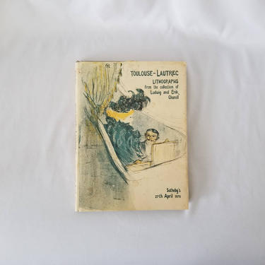 Vintage Sotheby's Art Book / Catalog of Toulouse Lautrec Sketches / Illustrated Coffee Table Book / Home Library Decor / French Art Book by SoughtClothier