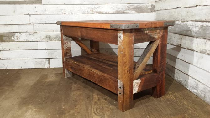 Free Shipping Saloon Style Western Coffee Table Rustic Coffee Table Reclaimed Wood Coffee Table by BarnWoodFurniture