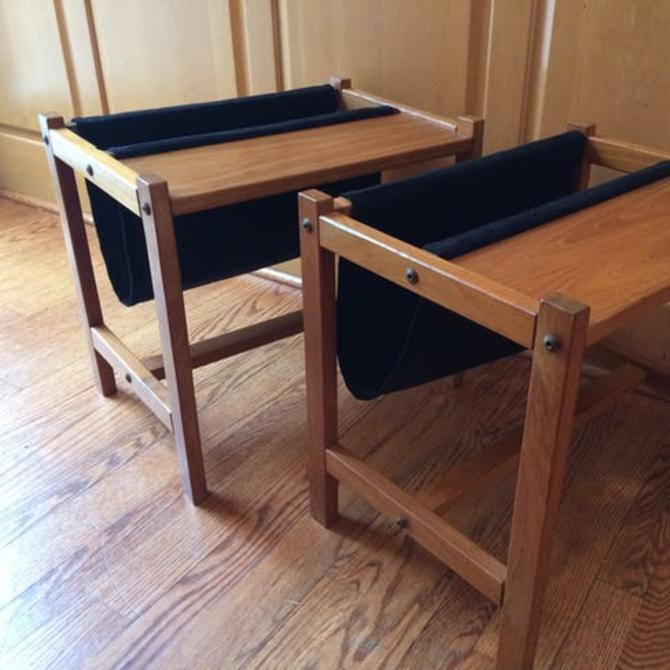 Pair of vintage Danish teak magazine tables