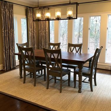 Farmhouse Dining Table by HickoryandHaze