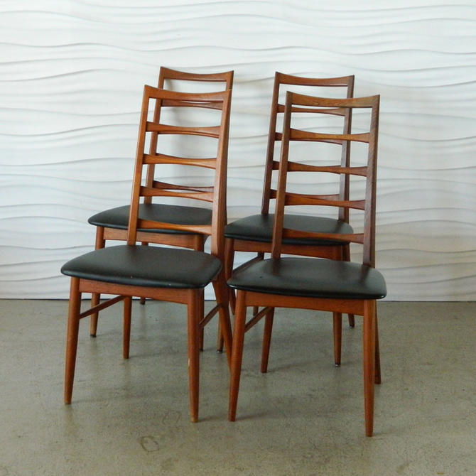 HA-C7997 Set of Four Teak Niels Hornslet Chairs