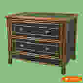 Grasscloth Burnt Bamboo Cabinet