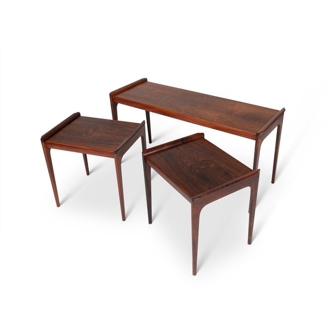 Severin Hansen Rosewood Nesting Tables by Haslev Møbelsnedkeri by MCMSanFrancisco