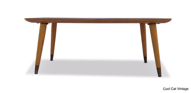 Modern Blonde Wood Coffee Table by Thonet, Circa 1950's - *Please see notes on shipping before you purchase. by CoolCatVintagePA