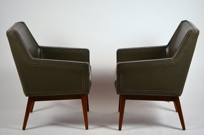 Pair of Early Modernist Armchairs by Vista of California for Stow Davis