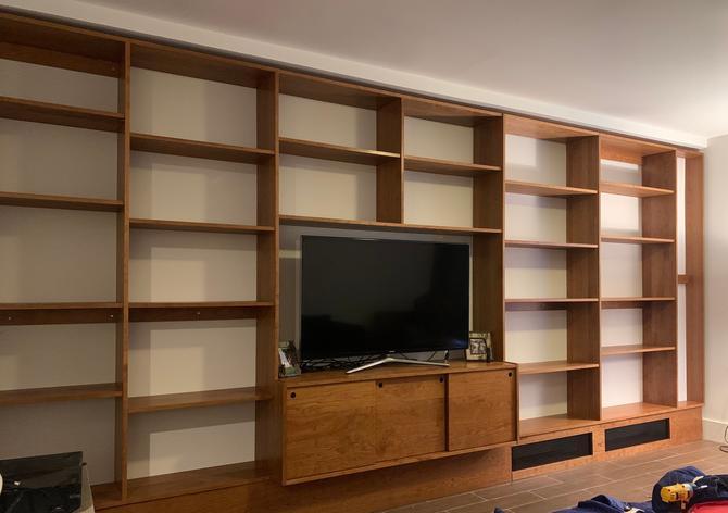 Custom Made Wall Bookcase by STORnewyork