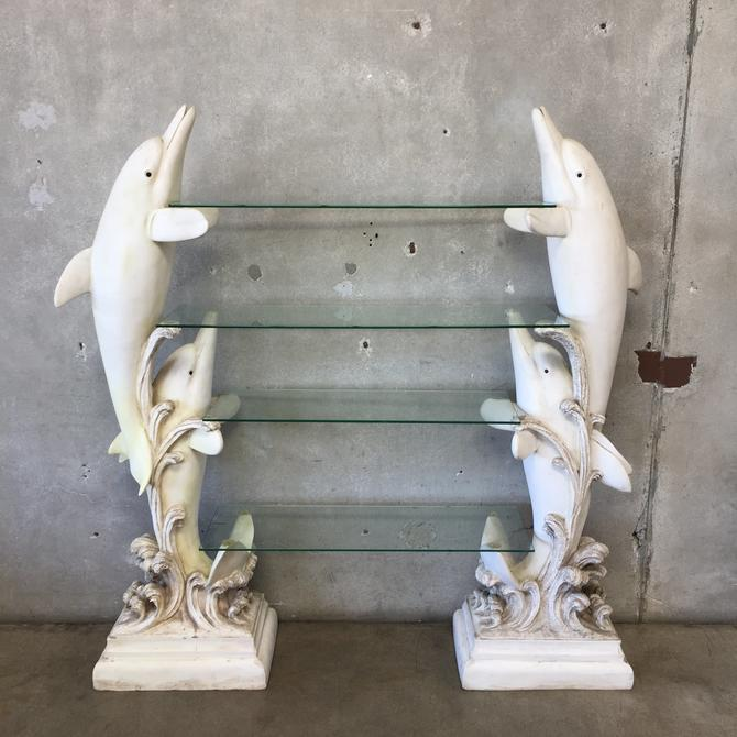 Modern Dolphin Shelving with Glass Shelves