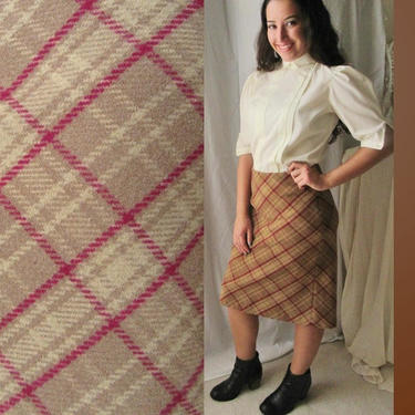Pencil Skirt, Plaid Wool Blend, J Crew, Vintage 90s, High Waist,  Preppy Prep School Girl Tartan, Size 4 by GabAboutVintage