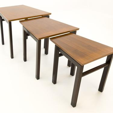Edward Wormley for Dunbar Trapezoidal Nesting Side End Tables - Mid Century Modern - mcm by ModernHill