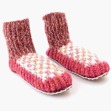 Berkley Knit Slipper Sock Rainbow