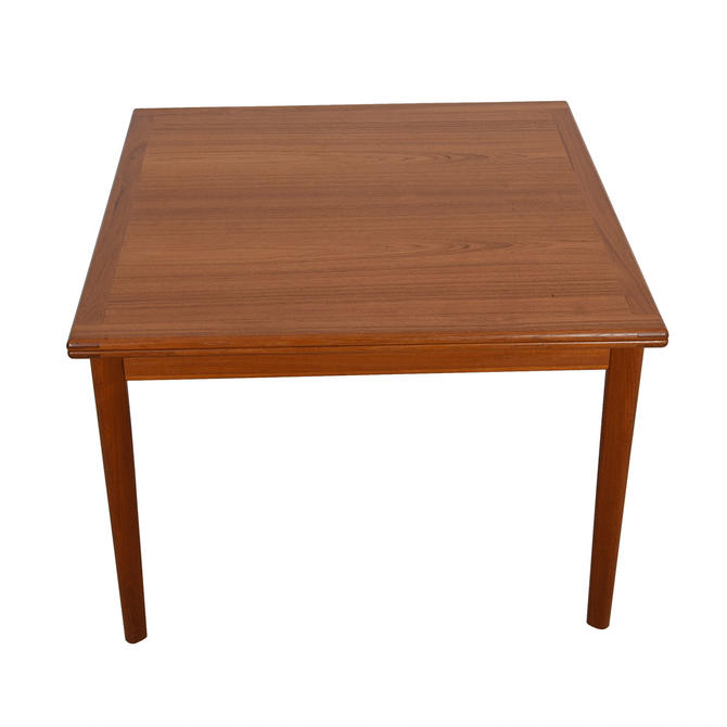 Expanding Danish Folding-Square Teak Dining / Game Table
