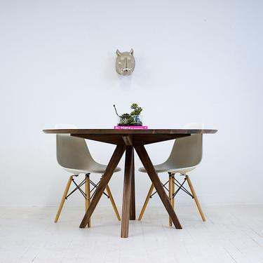 "Round Walnut Dining Table,  Round Table, Tulip Table, Walnut Dining Table ""The MILA 52"" by moderncre8ve"