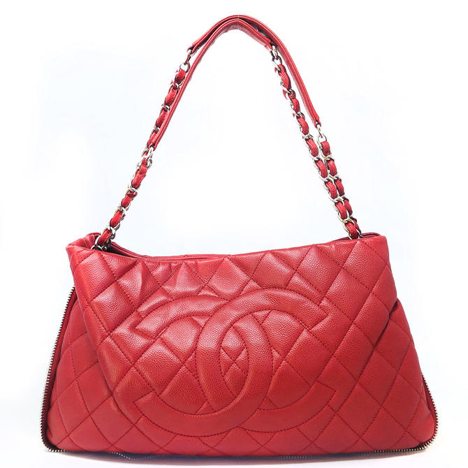 Chanel Red Quilted Purse